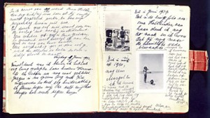 A couple of pages from Anne Frank's diary.