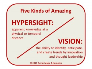 Five Kinds of Amazing: Hypersight and Vision