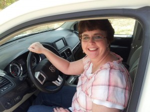 Networking paid off for Rosemary - she got a new van!