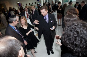 Joe M. Turner entertains with magic and mentalism in a reception environment.