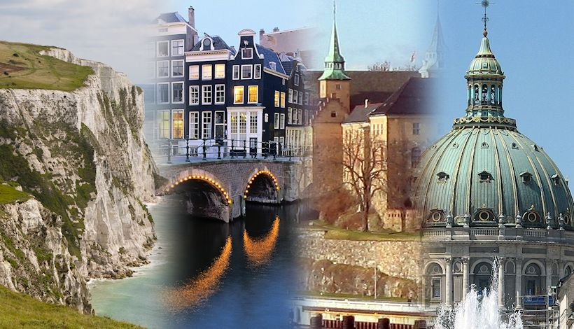 Crystal Cruises 'Northern Europe Getaway' includes stops in Dover, Amsterdam, Oslo, and Copenhagen.