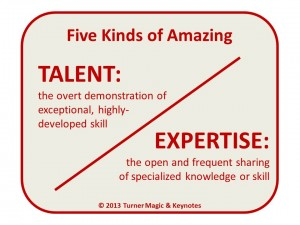 Five Kinds of Amazing: Talent and Expertise