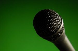 Recording a meeting can motivate participants to use microphones even if they'd normally resist.