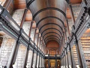 The Long Room of the Trinity College Library in Dublin inspires awe and respect for the work of those who have gone before.