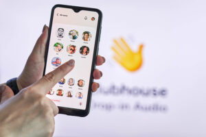 Clubhouse is a popular interactive audio chat app.